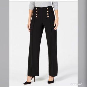 NWT INC Regular Fit Wide Leg Button Pants INC17